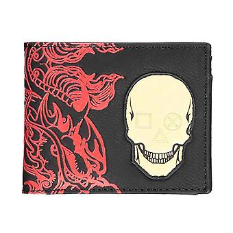 Playstation Wallet Japan Skull Logo new Official Black Bifold