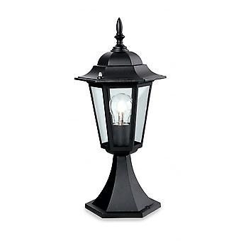 Firstlight Jaded Traditional 6 Panel Black Outdoor Lantern
