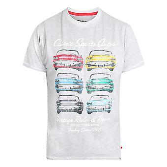 Duke Mens Jenson Kingsize Classic Autos Printed T-Shirt