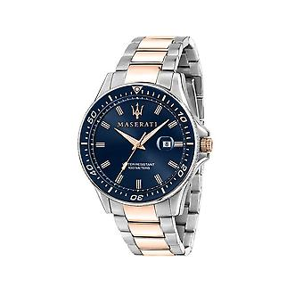 Maserati - Watch - Men - SFIDA 44MM 3H BLUE DIAL BR SS+RG - R8853140003