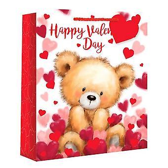 Eurowrap Valentines Bear Gift Bags (Pack Of 12)