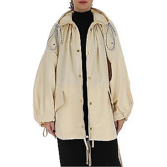 Moncler Genius 1b701c0487080 Women's Beige Nylon Coat