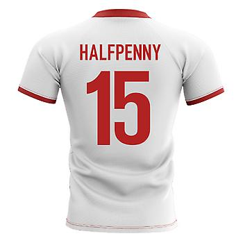 2019-2020 Wales Flagge Konzept Rugby Shirt (Halfpenny 15)