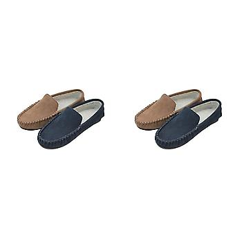 Eastern Counties Leather Mens Berber Fleece Lined Suede Moccasins