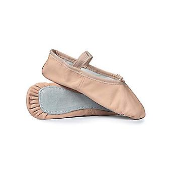 طفل الاقتصاد الجلود أحذية الباليه الوحيد الكامل T1000C