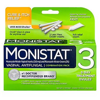 Monistat 3 dual action 3 day combination pack treatment, 1 kit