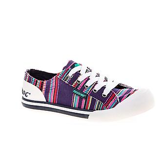 Rocket Dog Womens/Ladies Jazzin Canvas Aloe Lace Up Trainer