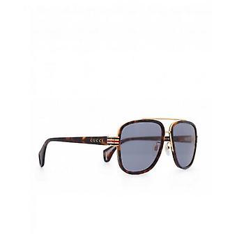 Gucci Eyewear Metal Bridge Acetate Sonnenbrillen