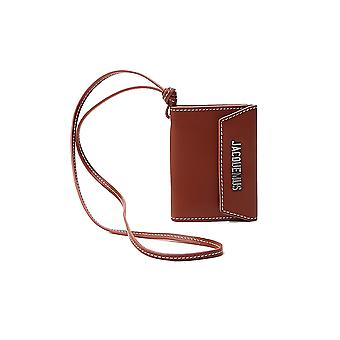 Jacquemus 205ac232056222068850 Men's Brown Leather Wallet