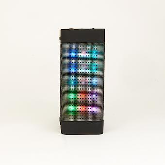 Wireless Bluetooth Speaker with Colorful LED Light Disc Dancing - Black