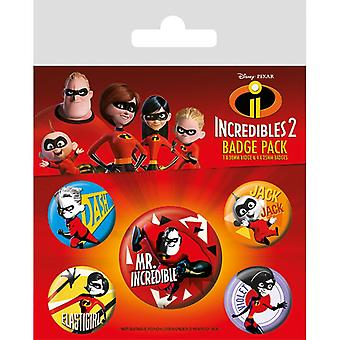 Incredibles 2 Family Pin Button Badges Set