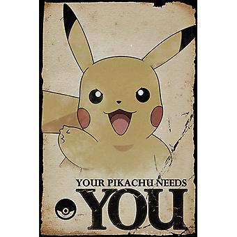 Pokemon Pikachu tarvitsee sinua Maxi Juliste