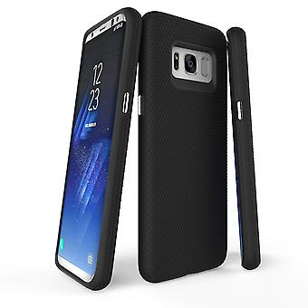 Pour Samsung Galaxy S8 Case, Black Armour Protective Durable Slim Phone Cover