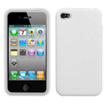Custodia sottile Asmyna Solid Skin per Apple iPhone 4s/4 - Bianco traslucido