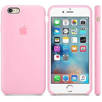 Originalförpackning Apple silikon täcker fallet för iPhone 6 6 S rosa