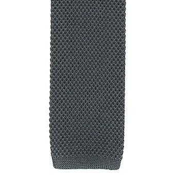 Eingewandt London Seide gestrickter Skinny Tie - Charcoal