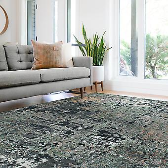 Canyon Modern Abstract Print Rugs 52016 3555 In Black