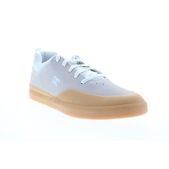 DC Infinite Mens Gray Suede Low Top Lace Up Skate Sneakers Schoenen