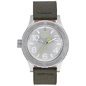 Nixon A467-2232 Men's The 38-20 Leather Watch - Zilver
