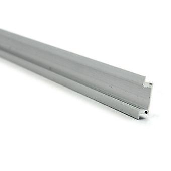 Jandei 4 * 1m Profil Aluminium Strip LED Infälld genomskinlig rundad mössa 24.5x17.5mm