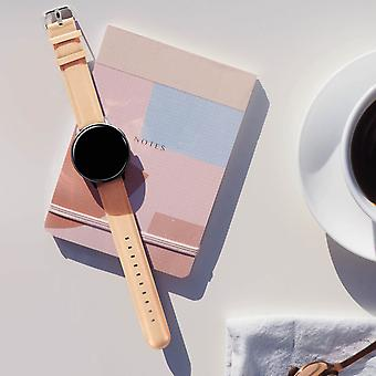 Galaxy Watch Active2 44mm Bracelet Leather Look Pale Pink Pin Buckle Clasp
