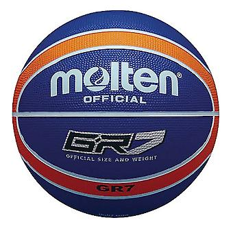 Molten GR7 Indoor Outdoor Rubber Basketball Ball Orange/Blue