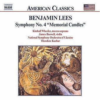 B. Lees - Benjamin Lees: Symphony No. 4 Memorial Candles [CD] USA import