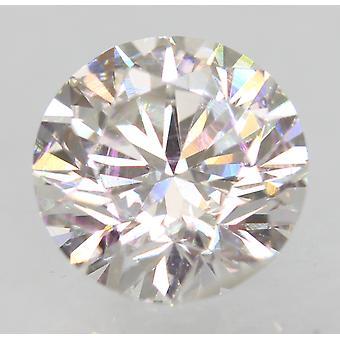 معتمد 1.01 قيراط E VVS2 جولة رائعة المحسنة الطبيعية فضفاضة الماس 6.4mm