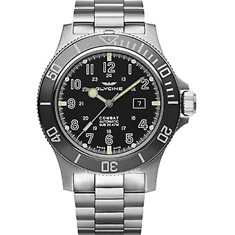 Glycine Combat Automatic Analog Men's Watch with GL0076 Stainless Steel Bracelet