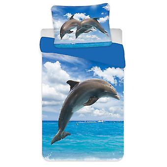 Dolphin Single Cotton Dekbed Cover Set - Europese maat