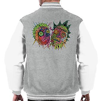 Rick og Morty psykedelisk ansigt mænd ' s varsity jakke