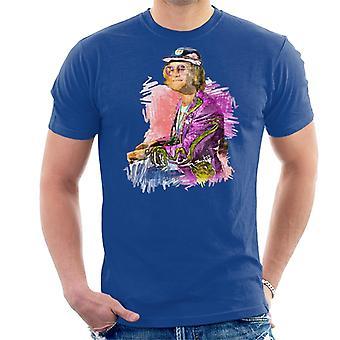 TV tider Flamboyant Elton John 1977 mäns T-Shirt