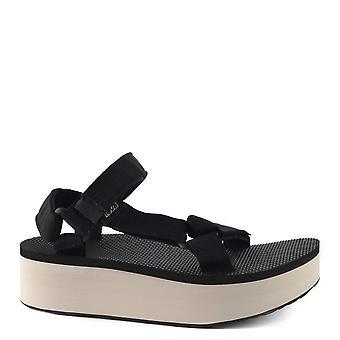 Teva Flatform Universal Black And Tan Sandals