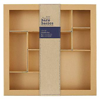 Papermania Bare Basics Shadow Box 12x12 Inch