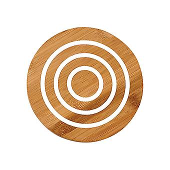 Ladelle Classic Round Bamboo Trivet, White