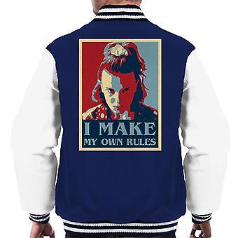 Ich mache meine eigenen Regeln elf fremde Dinge Männer's Varsity Jacke