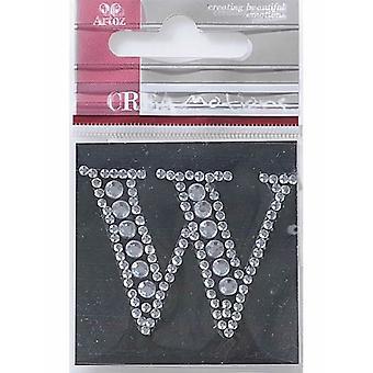 زخرفة حرفة كريستال الحرف W الماس من أرتوز