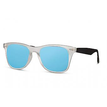 Sunglasses Unisex panto full-edged cat. 3 white/blue