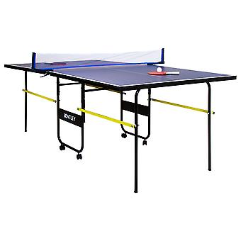 Charles Bentley 6ft9in 3/4 Junior Folding Table Tennis Table - Bats, Balls & Net
