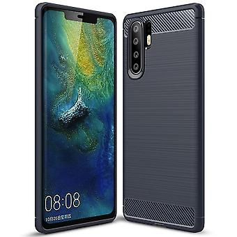 Caoutchouc de protection mobile pour Huawei P30 Pro TPU Matt Shockproof Mobile Shell Uncolored Shell