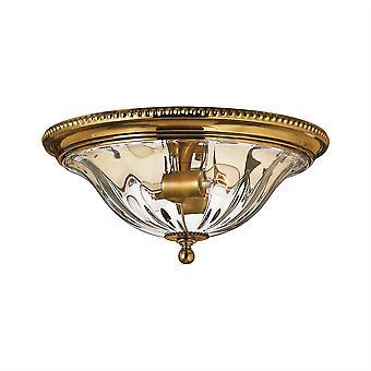 Elstead Cambridge - 2 lys innfeldt taklampe brent messing, E27
