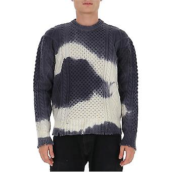 Laneus Mgu761cc30var3 Men's Grey Wool Sweater