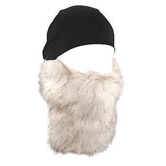 Balboa WHLB114 Detachable White Beard Skull Cap - Black