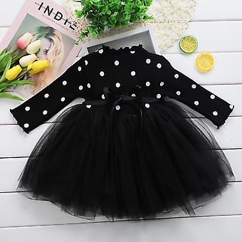 Long Sleeve, Bow Knowt Tutu Gown -princess Party Dresses