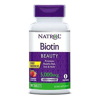 Natrol Biotin Fast Dissolve, 5000 MCG, 90 TABS