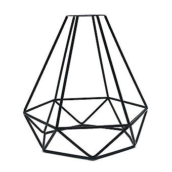 Hot Black Retro Edison Metal Iron Wire Cage Shaped Hanging Pendant Light Lampshade Light Shade Home Cafe Diy Decorations (black)