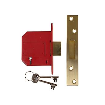 Union Strongbolt 2100S BS 5 Alavanca Mortice Deadlock 81mm Caixa de bronze de cetim