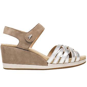 Sandal With Wedge Benvado Palma Sand and Platinum