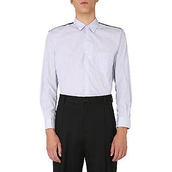Comme Des Garçons Shirt W280741 Men's Blue Cotton Shirt