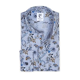R2 Long Sleeved Shirt Floral Pattern